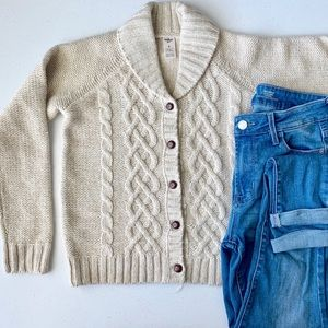 OshKosh cable knit cardigan- cream